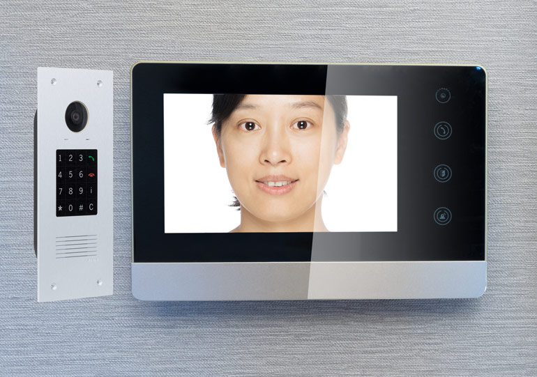 Intercom and screen combination